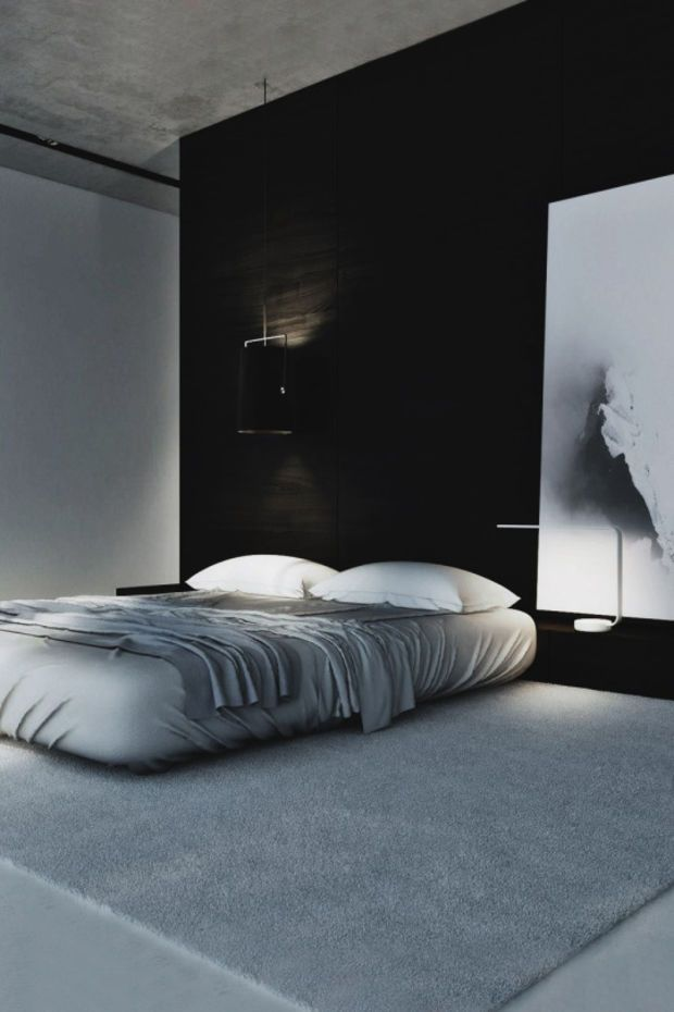 Inspiring Examples Of Minimal Interior Design 5 Black White Bedroomsdark Bedroomsmodern