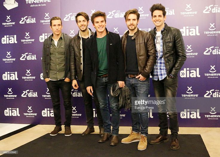 Band Dvicio attends the presentation of 25th Anniversary of Cadena Dial at Casino Madrid on February 5, 2015 in Madrid, Spain.
