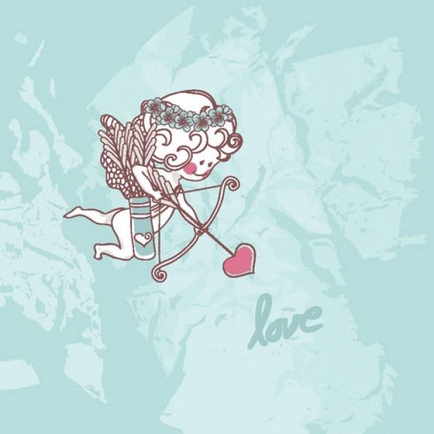 Un petit cupidon version ludique pour décorer une pièce de céramique à l'occasion de la St-Valentin!