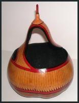 Native American & Southwestern gourd art.