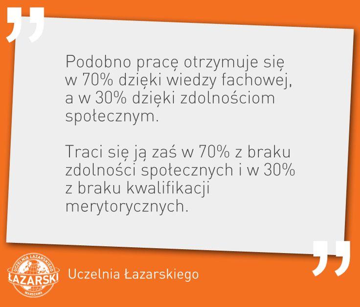 Zasłyszane na wykładzie dr Małgorzaty Gałązki-Sobotki.  #lazarski #cytat #praca