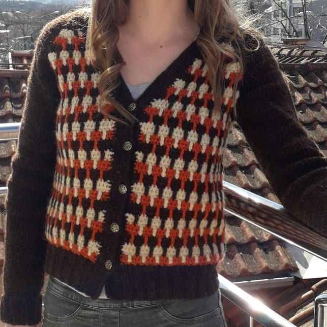 crochet cardigan #crochetcardigan #crochetjacket #gobletstitchpattern