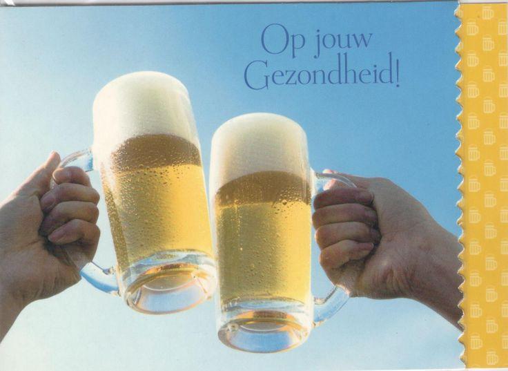 Fotokaart met frisse pint op jouw gezondheid!