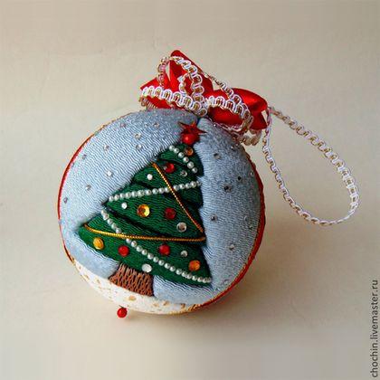 Новый год 2015 ручной работы. Ярмарка Мастеров - ручная работа Рождественская ёлка - елочный шар коллекционный кимекоми кимэкоми. Handmade.