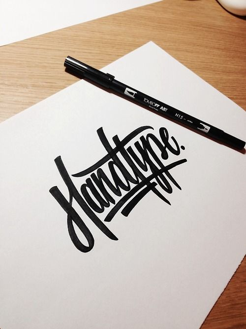 Lettering by Andy Lethbridge Medium used: Tombow Dual Brush Pen