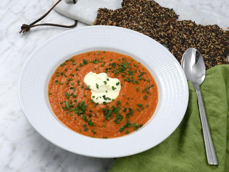 Tomat- och saffranssoppa med fröknäcke | Recept från Köket.se
