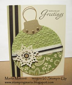 Maria's Stamping Station: Christmas Ornament Card using the Clear Circle Die