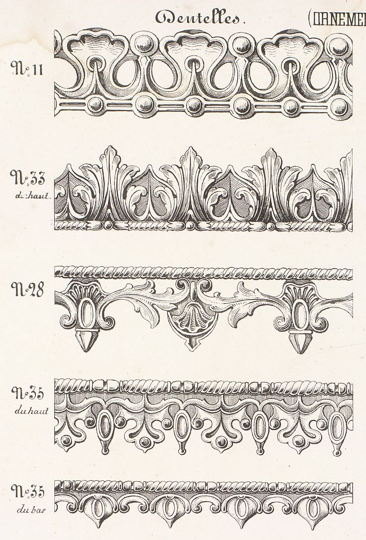 Mouldings from the Garde Meuble//Filigree