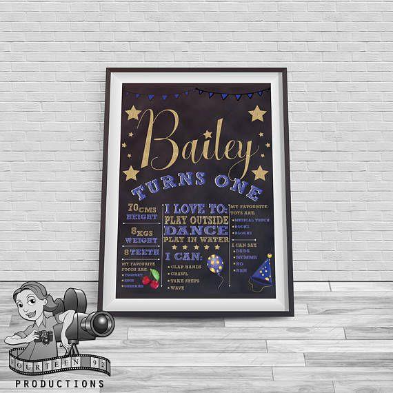 Twinkle Twinkle Little Star Chalkboard Milestone Poster