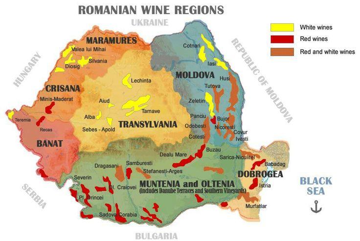 regiones de vino de Rumanía