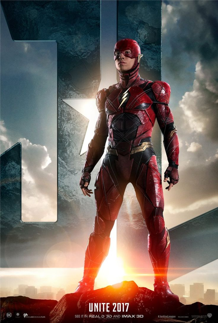 Justice League Movie Poster 2017 Barry Allen as The Flash with  Justice League Logo in Background, Check out Trailer Breakdown - DigitalEntertainmentReview.com