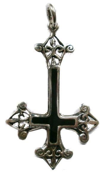 925 zilveren kettinghanger omgekeerd kruis