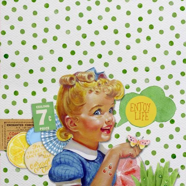 Credits: Spring Picnic {Elements} by Paula Kesselring, Spring Picnic {Papers} by Paula Kesselring and Spring Picnic {Flair & Journal Cards} by Paula Kesselring].
