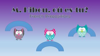 This is a great activity to help children understand French prepositions!Included:Preposition cards- sur- sous- devant- derrire-  ct de- dansThese can be used as simple flash cards, a hands on activity, or a drama activityHow to play:For a small group activity, have a set or two of cards ready.