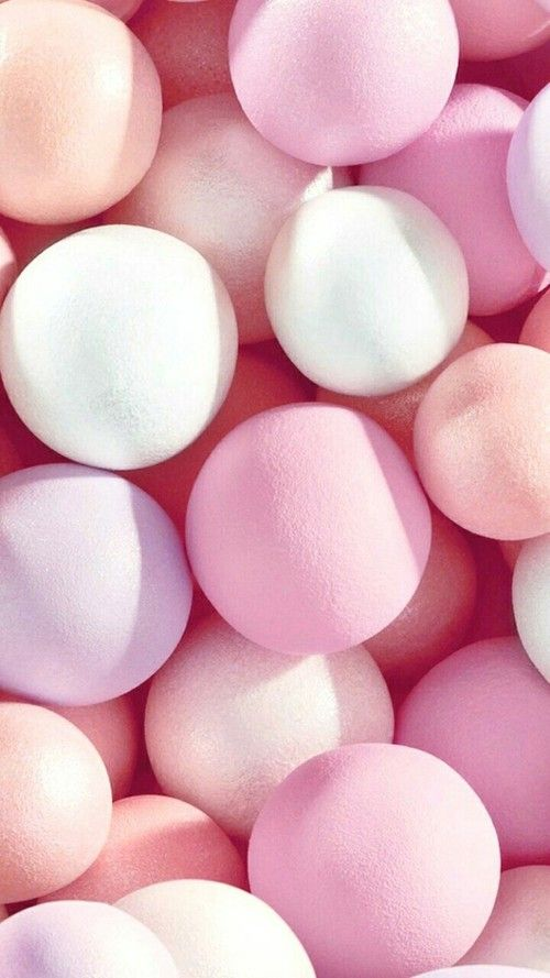 Imagem de background, balls, and pastel color