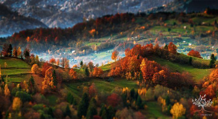Landscapes of Maramures, the Carpathians, Romania
