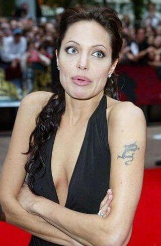 Angelina Jolie de maneira nem tão atraente