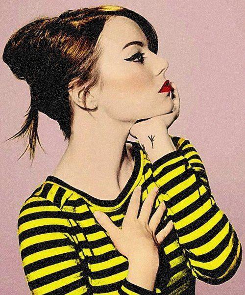 Emma Stone <3 Love this vintage style.