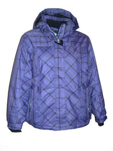 Womens Fashion Bug Plus Size Ski Jacket Coat Insulated Plaid 1X 2X 3X 4X www.fashionbug.us