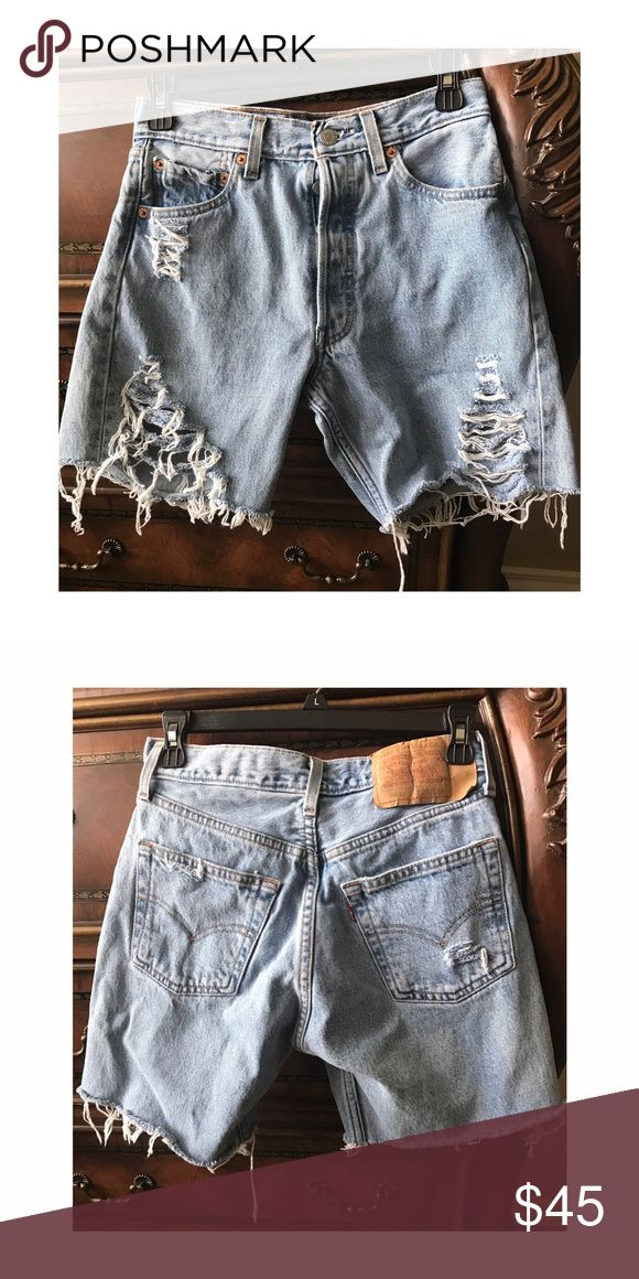 Tattered 501 Levi shorts A must have summer piece  Levi's Shorts Jean Shorts