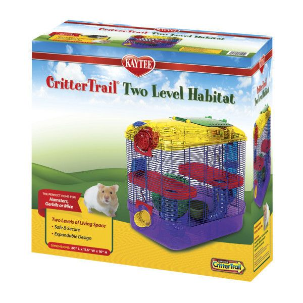 Food 100417: Kaytee® Crittertrail Two Level Habitat Small Animal Hamsters Gerbils Mice Cage -> BUY IT NOW ONLY: $44.99 on eBay!