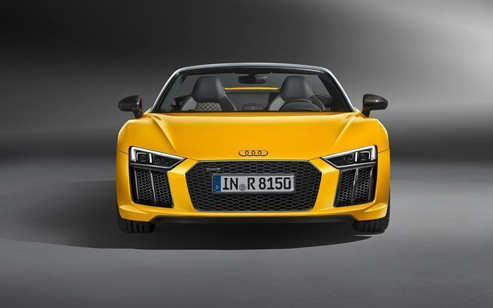 Awesome Audi 2017: Awesome Audi 2017: Cool Audi 2017: Audi R8 Spyder, 2017, yellow Audi, sports car... Car24 - World Bayers Check more at http://car24.top/2017/2017/02/23/audi-2017-awesome-audi-2017-cool-audi-2017-audi-r8-spyder-2017-yellow-audi-sports-car-car24-world-bayers/