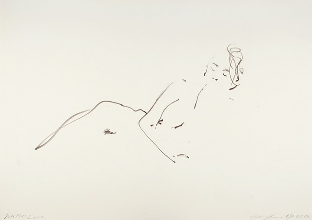 by tracey emin this drawing is effective, straightforward, easy, uncomplicated, uninvolved, effortless, and painless