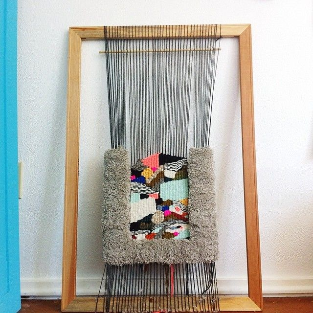 About halfway done with this new weaving for an awesome shop called Busy Being in Austin, TX