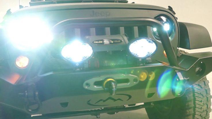 J.W. Speaker Headlight & auxiliary light Install on the Rat Patrol JK
