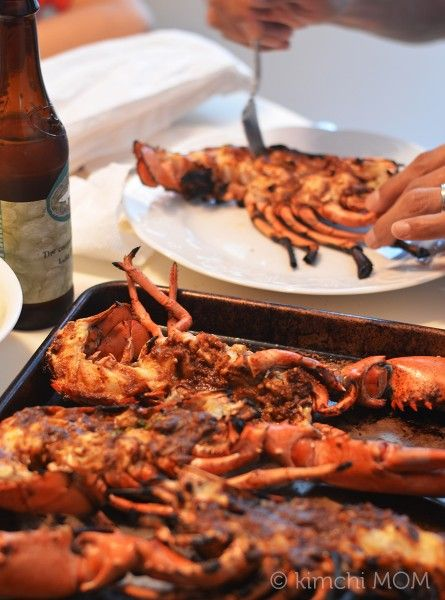 Grilled Lobster with Miso Butter #SundaySupper | www.kimchimom.com