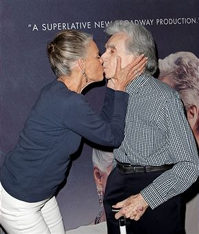 Ali MacGraw and Arthur Hiller attend the curtain call for 'Love Letters' at Wallis Annenberg Center for the Performing Arts on October 14, 2015 in Beverly Hills, California.
