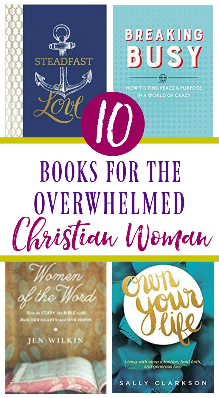 Don't let #stress and #busyness get the best of you!  These books will help anchor your soul to biblical truths and help you connect with God, even when life is busy! #Christianwomenresources #Christianbooks #faith #devotionals