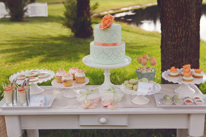 Rustic Engagement party dessert table