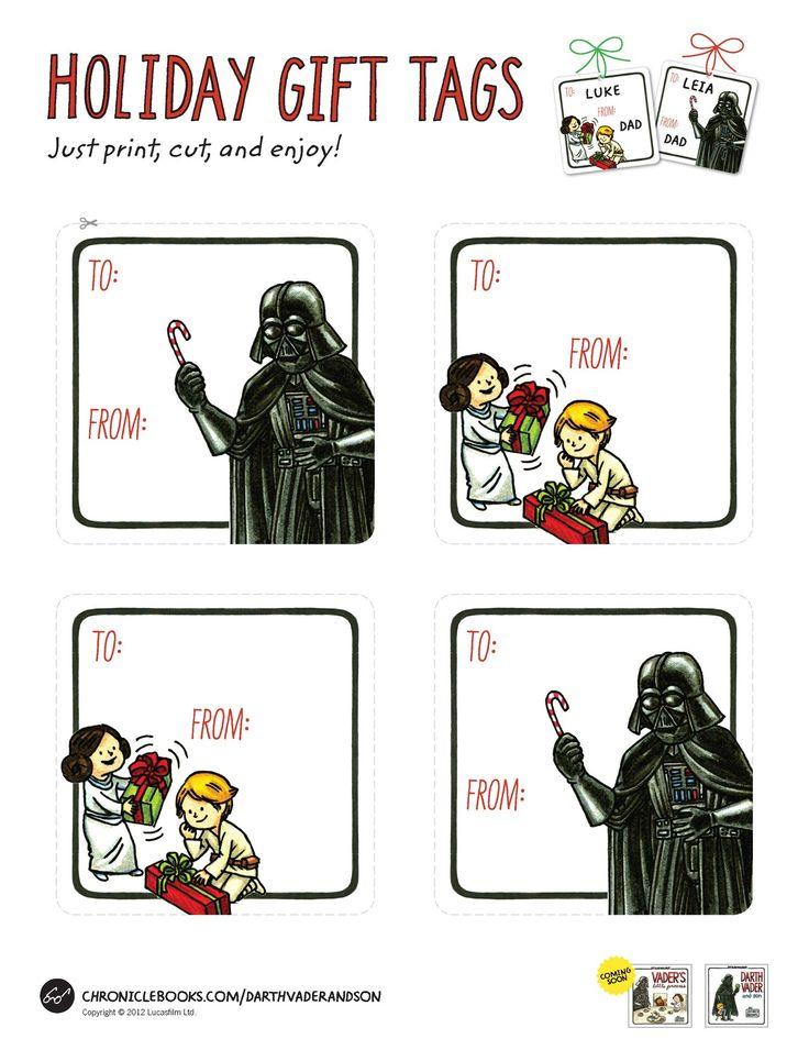 Darth Vader and Son Gift Tags