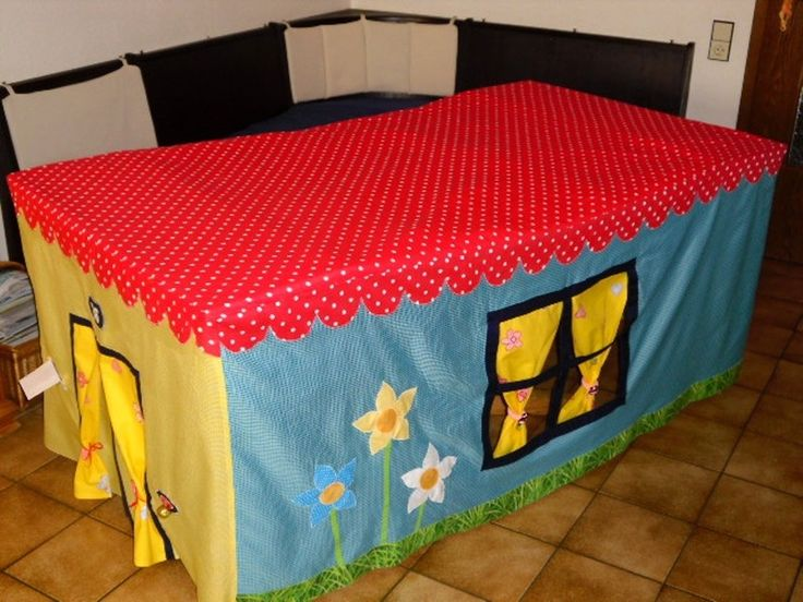 husse zelt tischhaus tischzelt kinderzelt tisch kindergarten and crochet. Black Bedroom Furniture Sets. Home Design Ideas