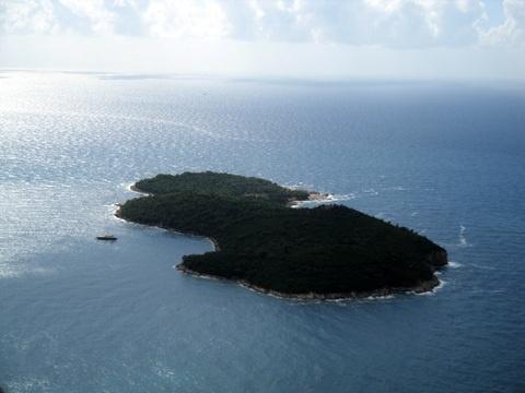 Lokrum island nestled in the Adriatic