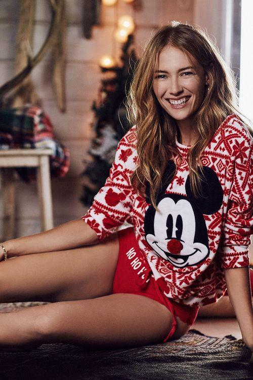 women'secret | Dulces sueños 30% | Pijama largo polar de Mickey