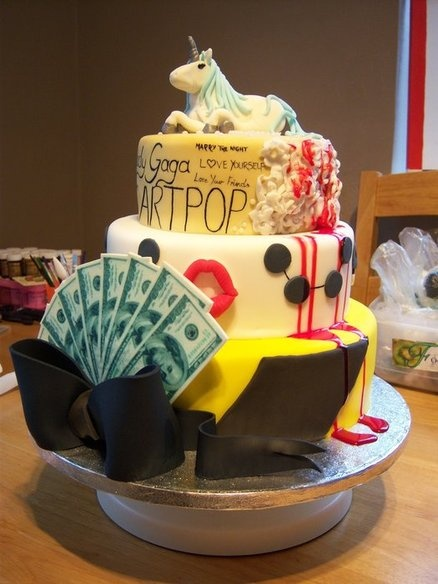 Lady Gaga Born This Way - by FondantFancies @ CakesDecor.com - cake decorating website