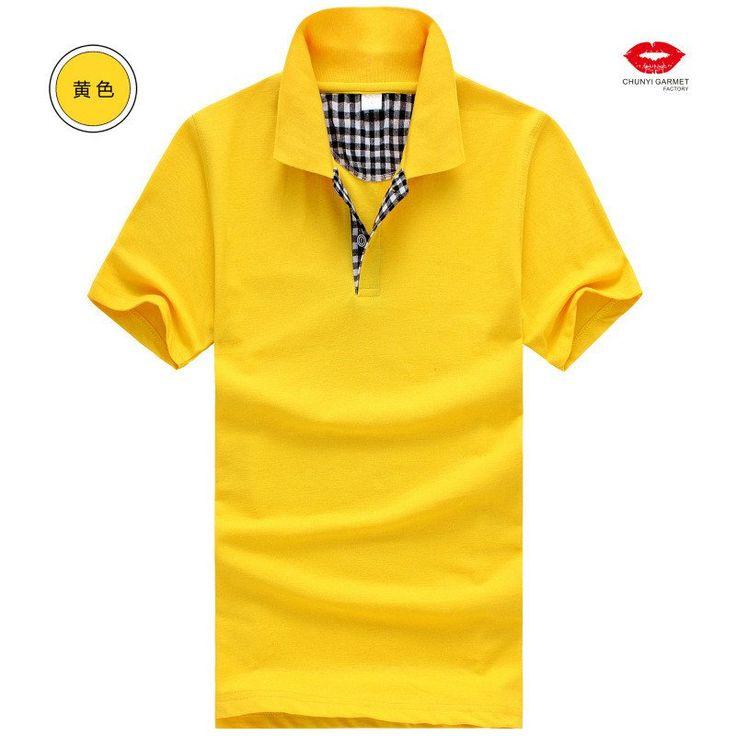 Short Sleeve Plaid Trim Men's Polo Shirt - Loluxe - 15