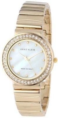 Relógio Anne Klein Women's AK/1330MPGB Swarovski Crystal Accented Gold-Tone Bracelet Watch #Relógio #Anne Klein