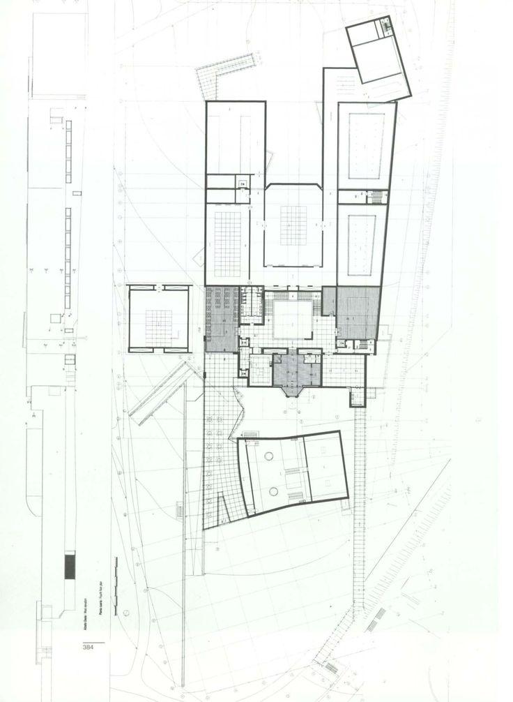 Plans of Architecture (Alvaro Siza, Fundação Serralves,1991-1999, Porto,...)