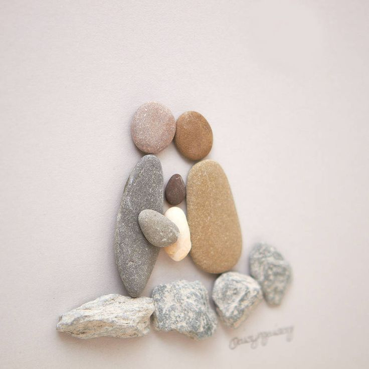 Personalised Christening Pebble Picture