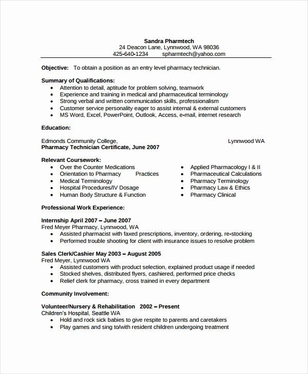 40 Pharmacy Tech Resume Samples In 2020 Sample Resume Resume