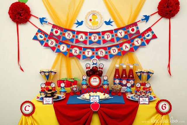 "Photo 1 of 50: Snow White / Birthday ""Snow White Birthday Party"" | Catch My Party"