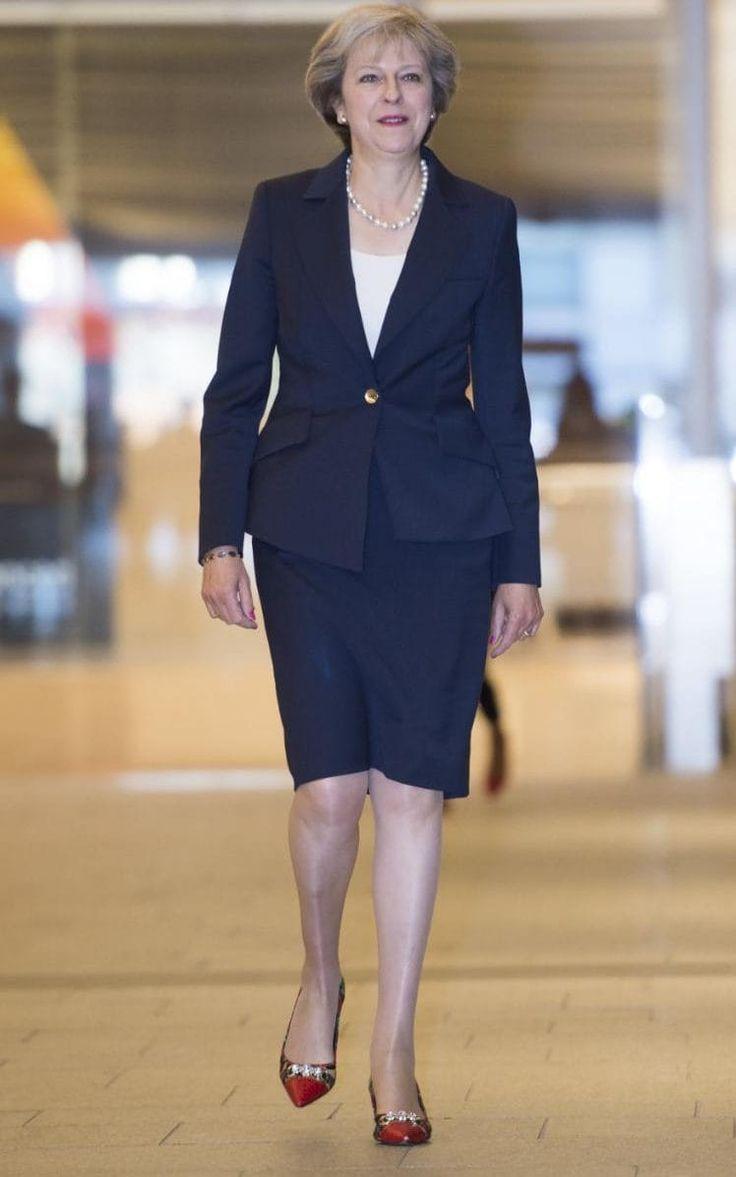 Theresa May wears Beverly Feldman