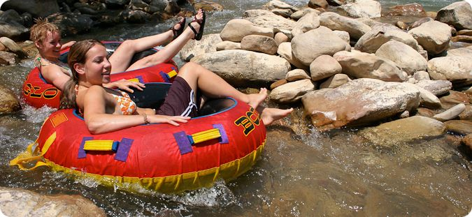ride tubes down the Virgin River in Zion National Park.