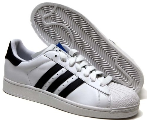 adidas Originals Men\u0027s Superstar II Court Sneaker,White/Black/White,9 D