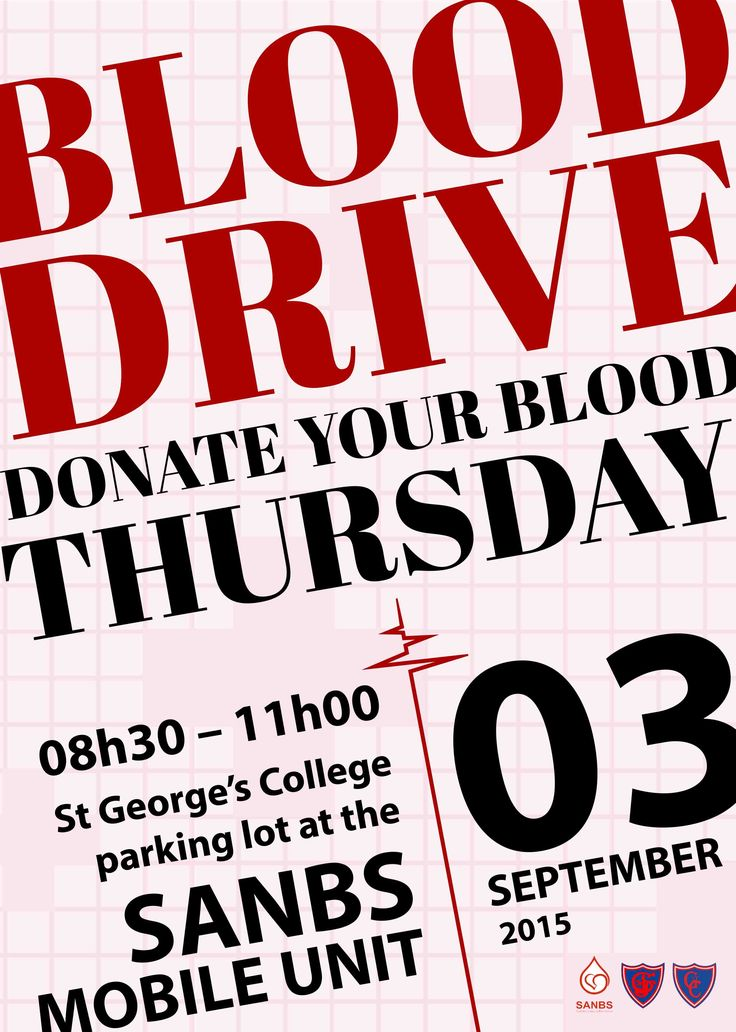 St George's College Blood Drive Poster