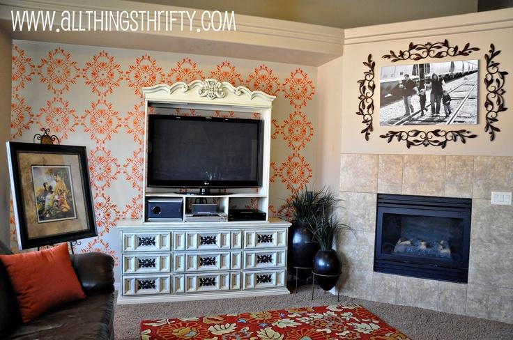 Met sjablonen de muur versieren