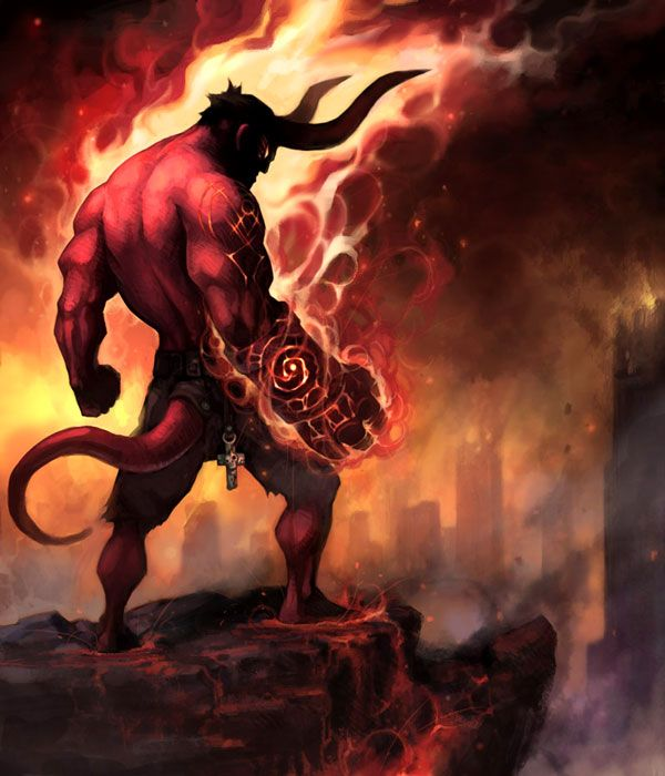I Love Hellboy This Is The Scene Where He Was The King Of Hell